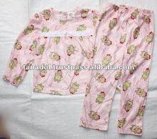 Children's clothing cate pink set sleepwear for kids 2012