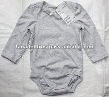 Children's clothing baby plain bodysuit long sleeve 2012