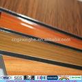 aluminium et bois effet de revêtement de mur en bois effet de peinture