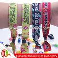nuevo de moda de lujo color personalizado pulseras tejidas para fiesta en la playa