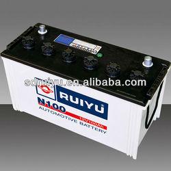 best price for dry cell N100 100ah 12v dry car battery