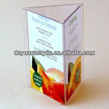 Hot sale/Custom Acrylic Menu Holder with Good Quality