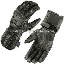 Leather Street Racing Gloves, Ski Motor Gloves, Off Road Gloves, Dirt Biker Gloves, Biker Gloves, Cruise Biker Gloves, Half Fing