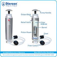 D-Hot sale Diercon travel/ trekking water purifier microfilter active carbon bottle filter 600ml food grade plastic OEM(KP01-02)