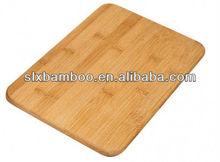 Natural bamboo square chopping board
