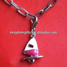 five star shape promotional gift Metal Keychain necklace or bracelet