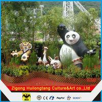 HLT Fiberglass Cartoon Panda movies Panda Figure Statue