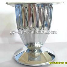 MG8803 chromed iron modern pleated furniture leg