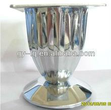 MG8803 chromed iron modern pleated table leg