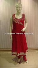 XL Salwar kameez neck design long sleeves