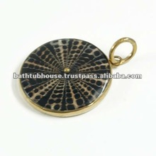 brass shell pendant jewelry y713p