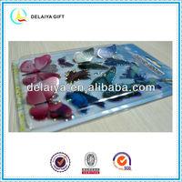 Beautiful laser sticker glitter butterfly sticker craft for promotion