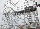 ringlock scaffolding system of aluminium alloy type