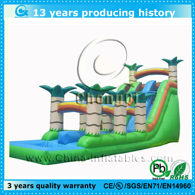 jungle themed giant inflatable pool slide for adult good sale