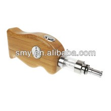 k600 handle wood e-cig mods with removable large capacity 18650 Rechargeable Battery