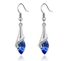 tear design earrings crystal earrings ladies fashion earrings new designs