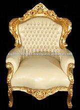 leather armchair , coloured armchair