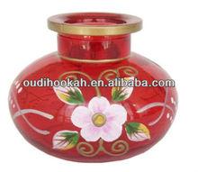 Cute Painted Glass Hookah Vase for Al Fakher