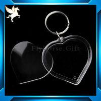 Custom acrylic plastic key chain(blank keyring)