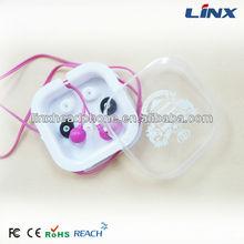 Cute earphone for girls/earphone clear case LX-E010