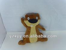 stuffed plush squirrel toys/plush brwon squirrel