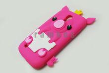Cute Fun Princess I9190 Pig Design Soft Silicone Phone Cover Case For Samsung Galaxy S4 Mini i9190