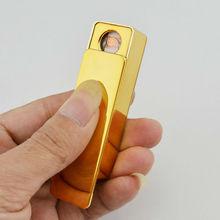 new gold metal rechargeable usb butane lighter adaptor