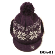 Brown knitting crochet baby hat winter beanie hat