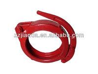 Concrete pump 6 inch pipe clamp