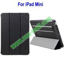New Arrivel Elegant Leather Cover with Armband and Loud Speaker Designer Flip Case for iPad Mini