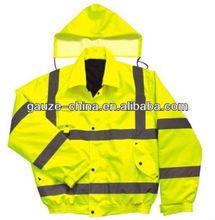 FDA CE High visibility warning clothing/coat/jacket ( yellow) for nightwork Senior PVC reflective strips