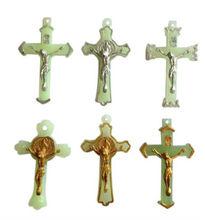 plastic luminous golden silver crucifix cross