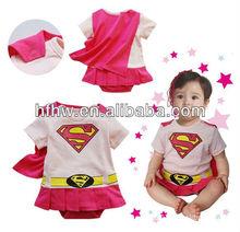 The new 2013 summer female baby superman ha clothing shape