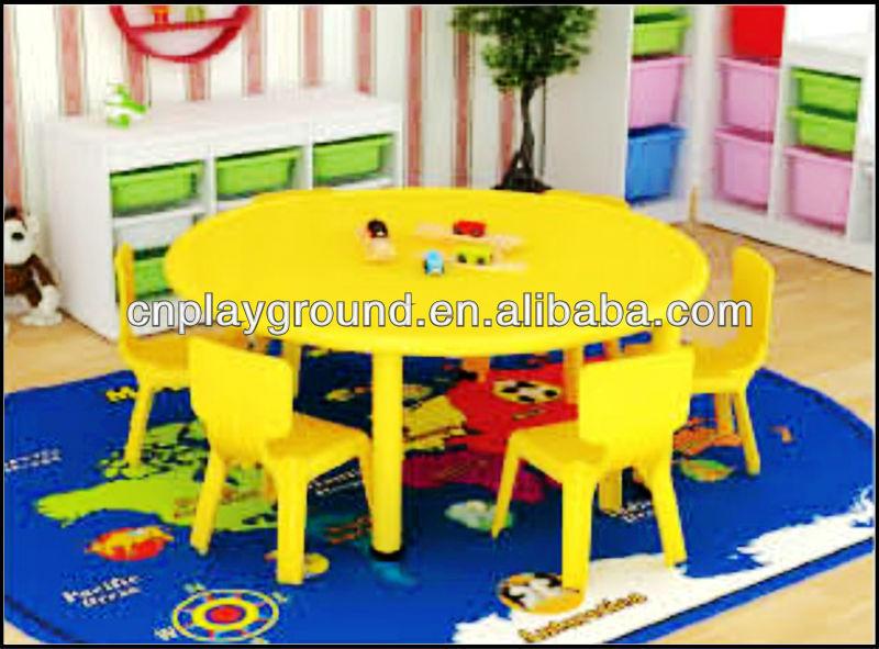 de la venta redonda mesa de plástico barato de la guardería muebles