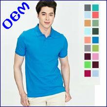 2013 latest fashion 100% cotton custom design plain men's polo shirts