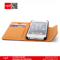 leather flip case cover for apple iphone 5