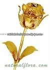 Gold Plated Artificial Rose