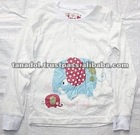 Children's clothing cute long t-shirt for kids new order 2012