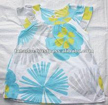 Children's clothing summer colourful girls short sleeve A-shape top raglan 2 layer 2012