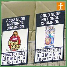 Basketball stadium hanging banner with rod