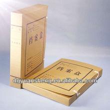 100% wooden paper manila folders clip file