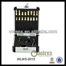 Shenzhen Aluminium Chess Box With Wine Tools Set(SGS&BV)
