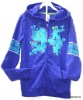 Children'scolourful hooded jacket long kangaroo pocket for kids 2012