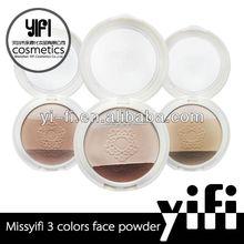 Distributor!2 colors cosmetic pressed face powder pearl powder eyeshadow