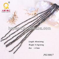 pearl string 4-5mm black baroque shape pearl