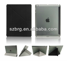 2013 new fashion tablet pc case for ipad 4, Leather case with stand for iPad 4