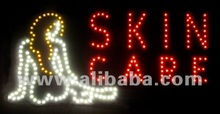 LED sign derma skin care woman nude