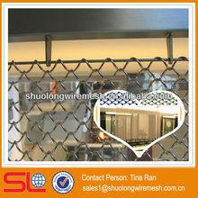 Restaurant fabric curtain room divider / decorative metal room divider curtains