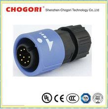 Push Lock 3 8pin waterproof plug field installable