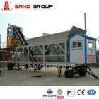 YHZS Portable Ready Mixed Concrete Batch Plant/Mobile RMC Plant/Mobile Beton Plant,25m3/h,500L Mixer,40Kw Total Power Hot Sale